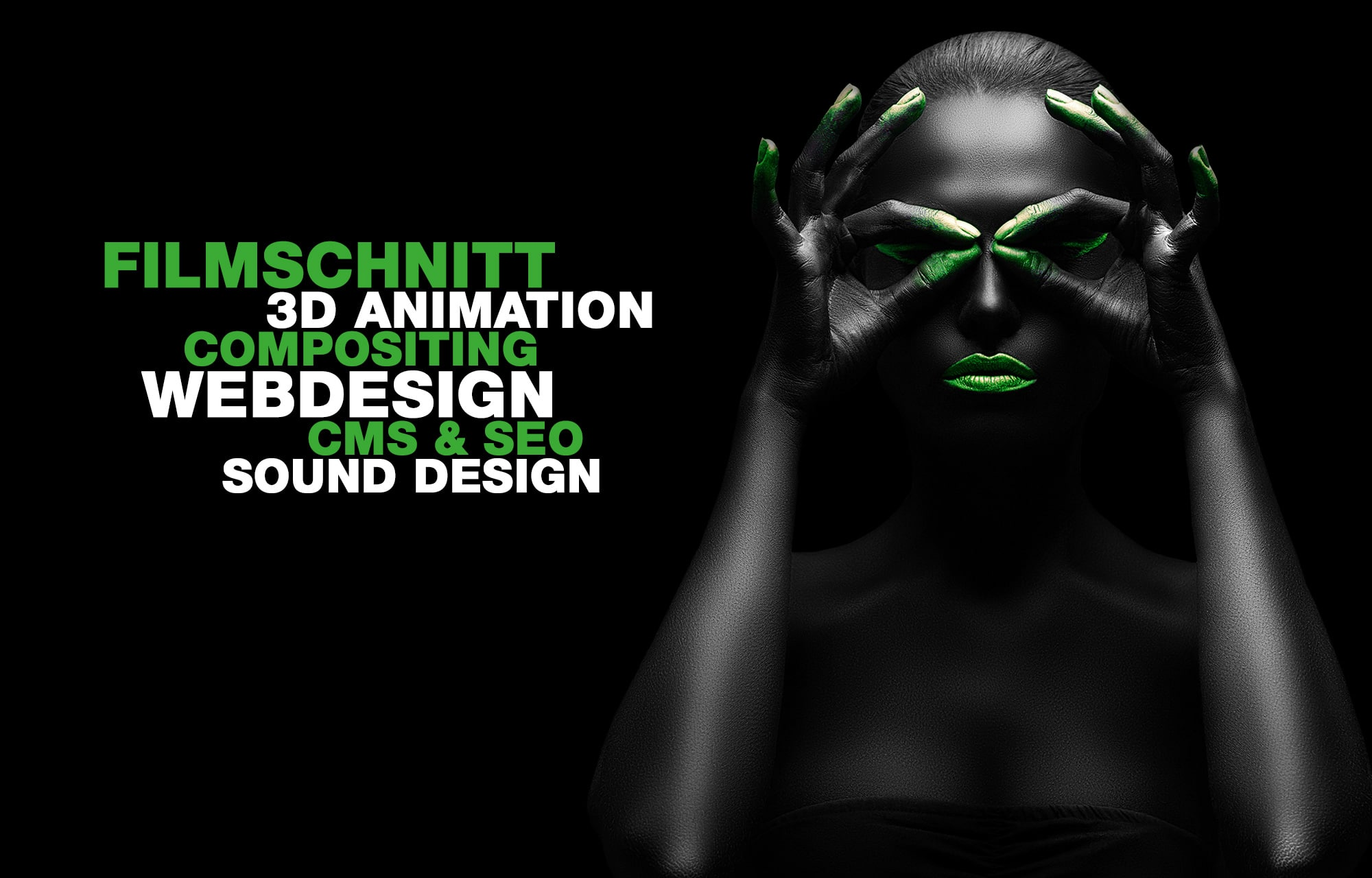 Filmschnitt, 3D Animation, Compositing, Webdesign, CMS